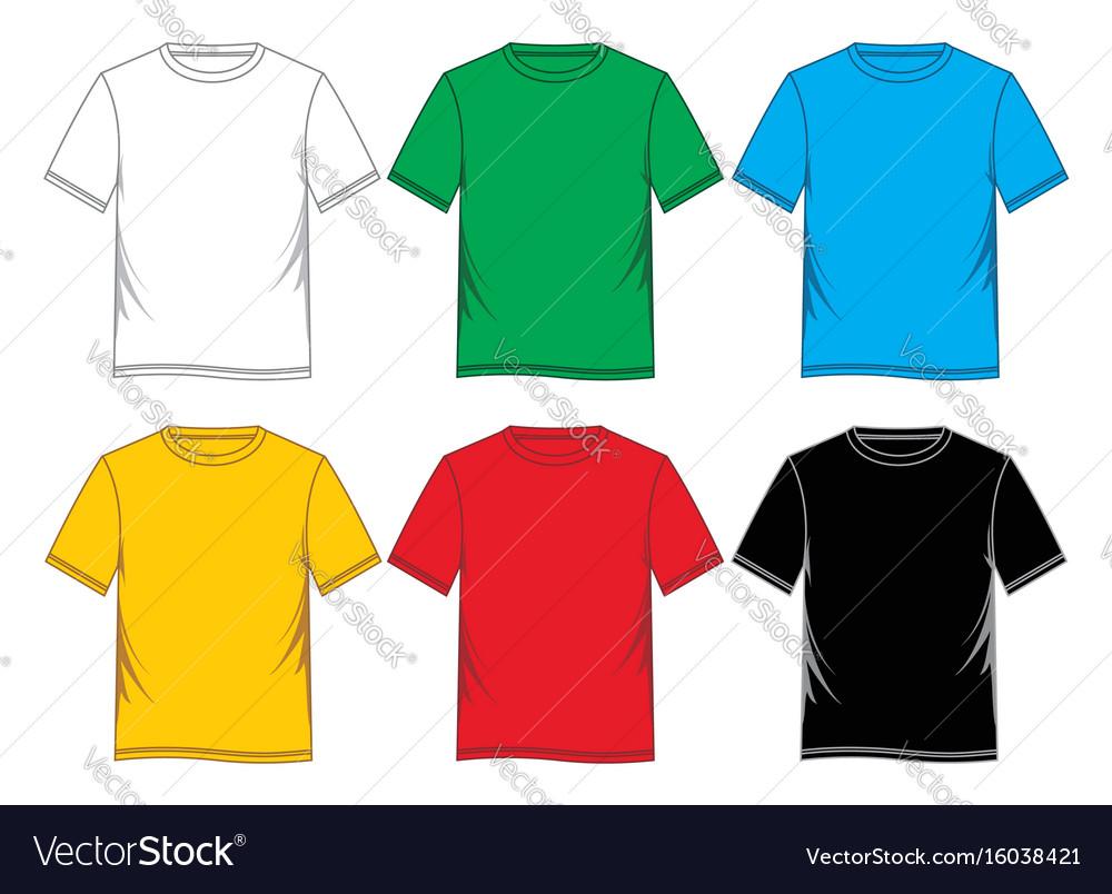T-shirt blank vector image