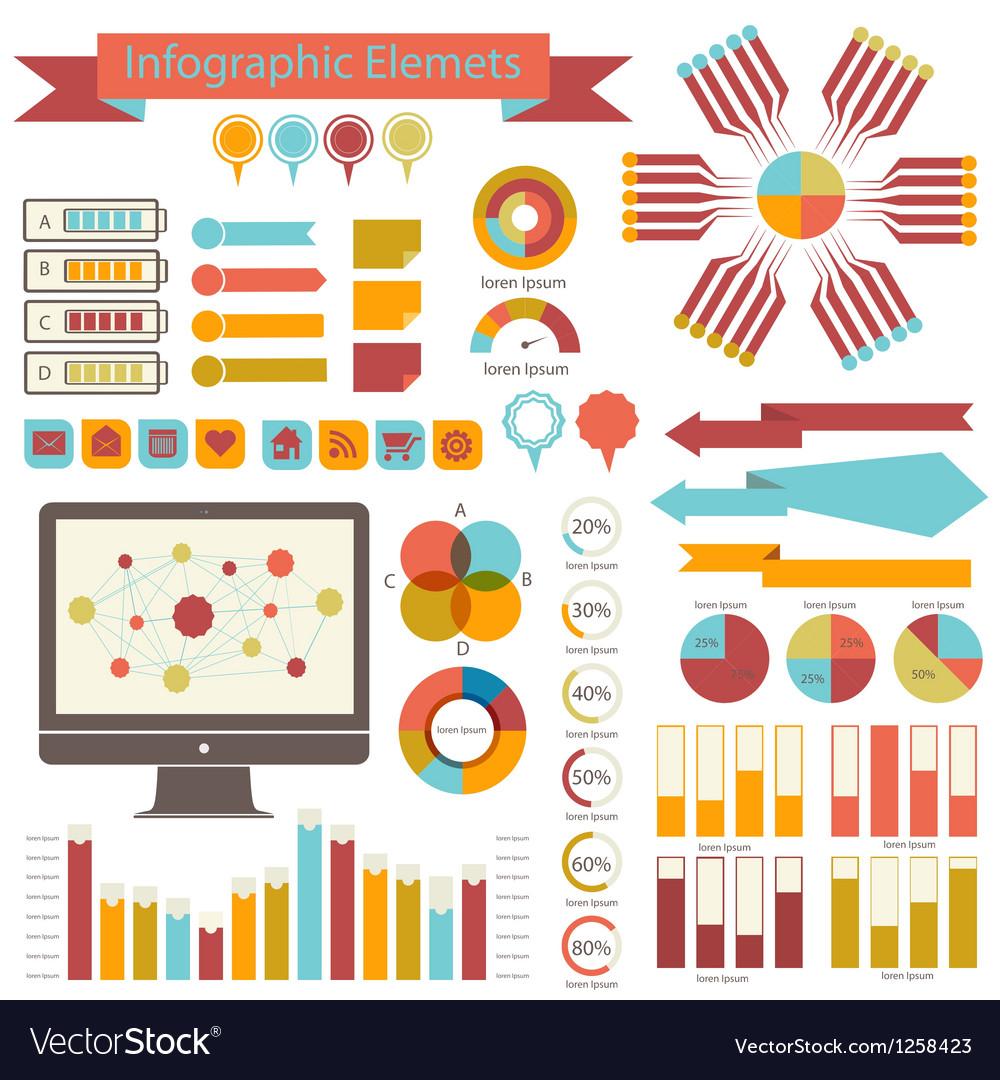Detail infographics set Information Graphics vector image