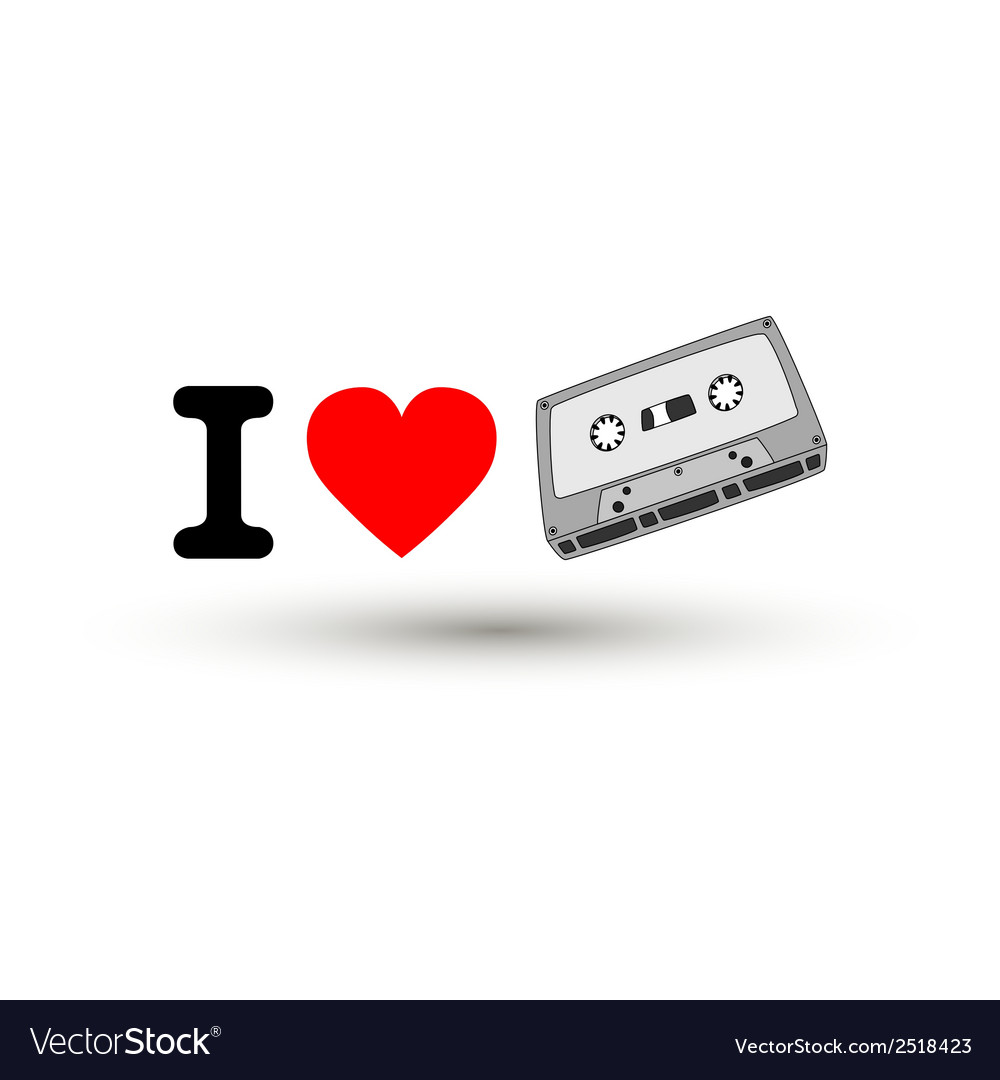 I love tape2 vector image