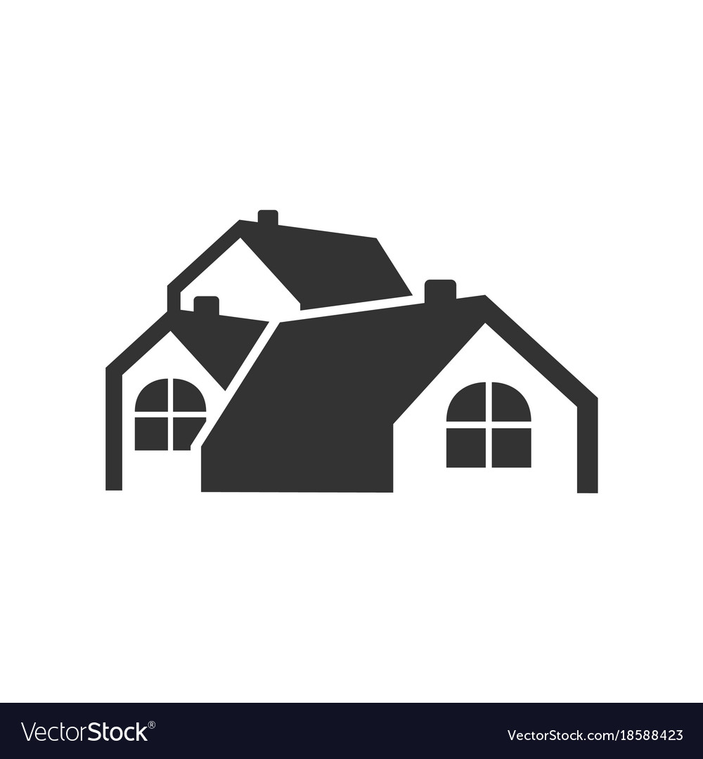 Simple Group House Logo Vector Image