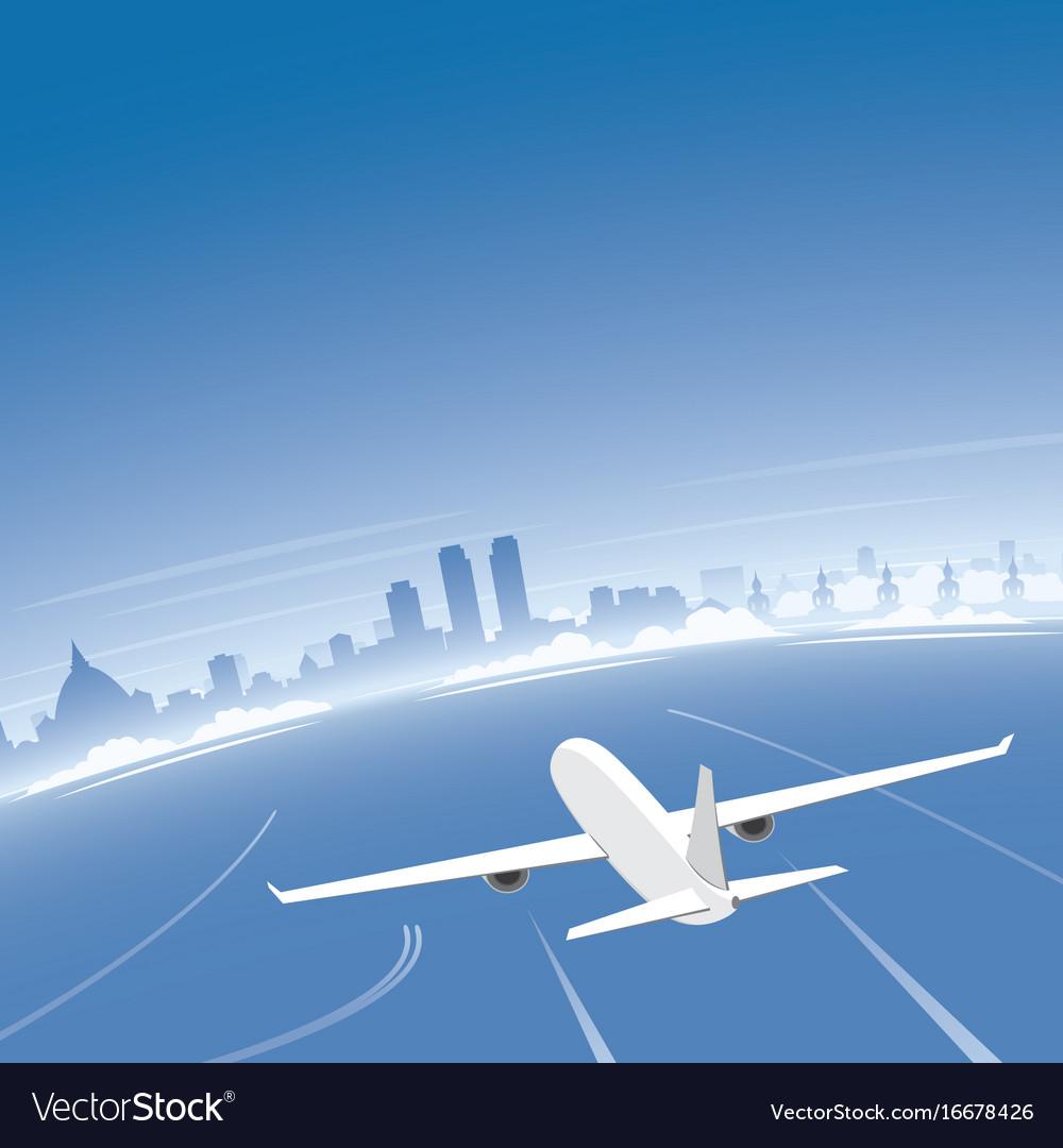 Colombo skyline flight destination vector image