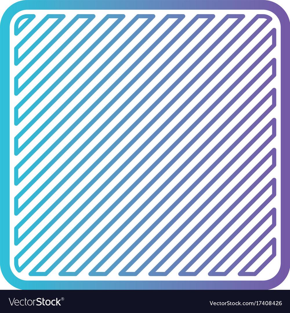 Square shape emblem in color gradient silhouette vector image
