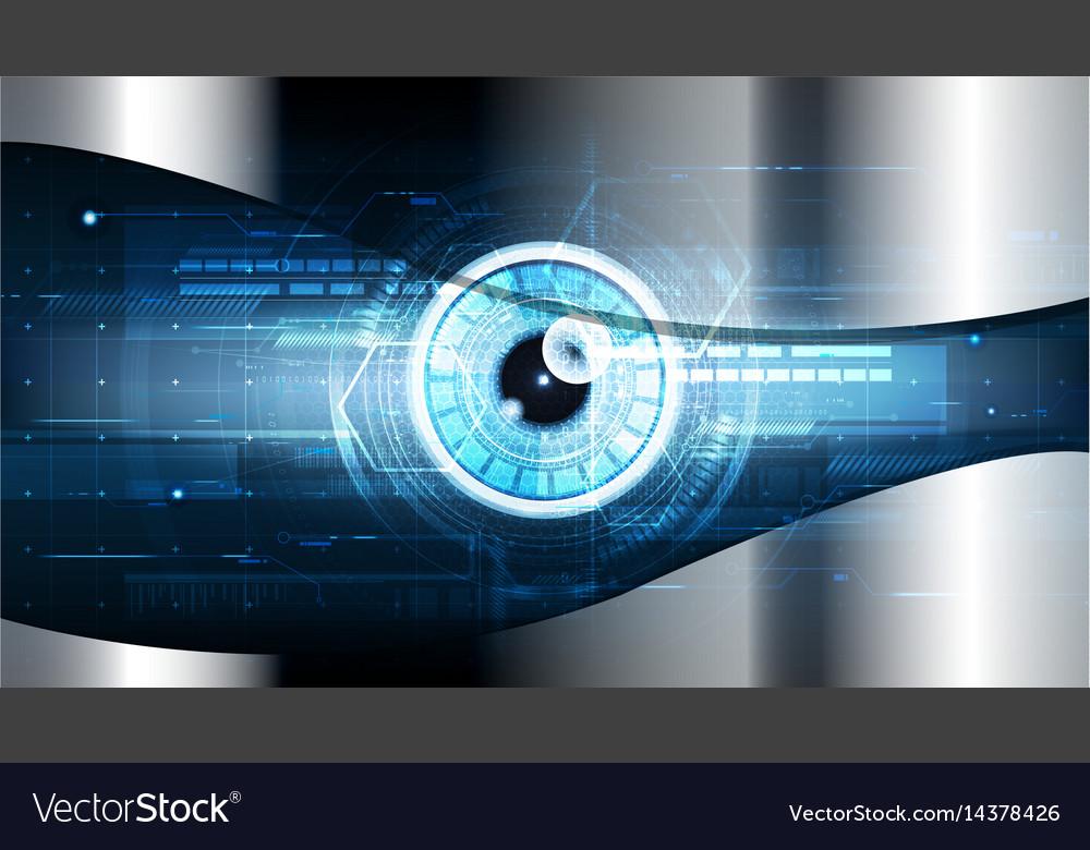 Technological cybersecurity eye scanning vector image