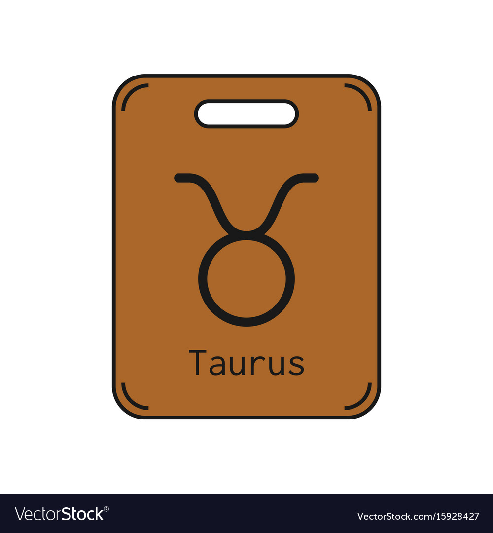 Taurus sign of the zodiac flat symbol horoscope vector image