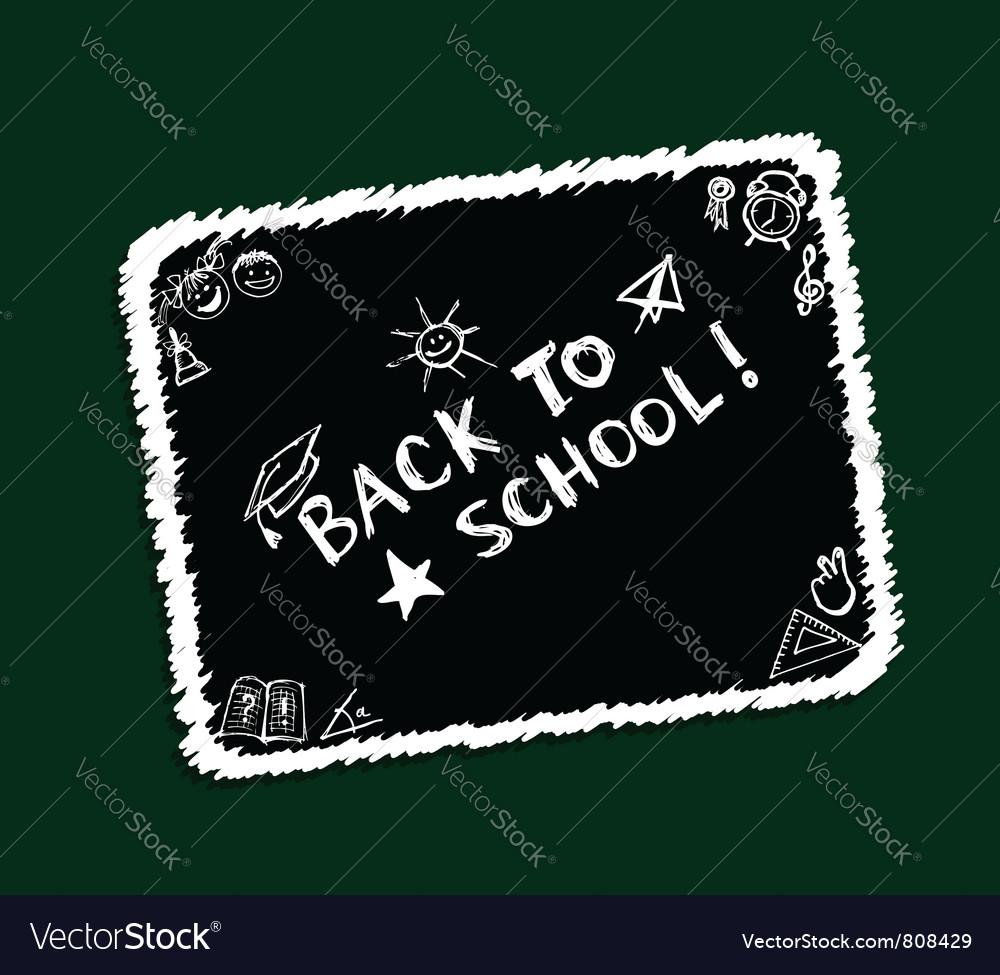 Back to school sketch frame vector image