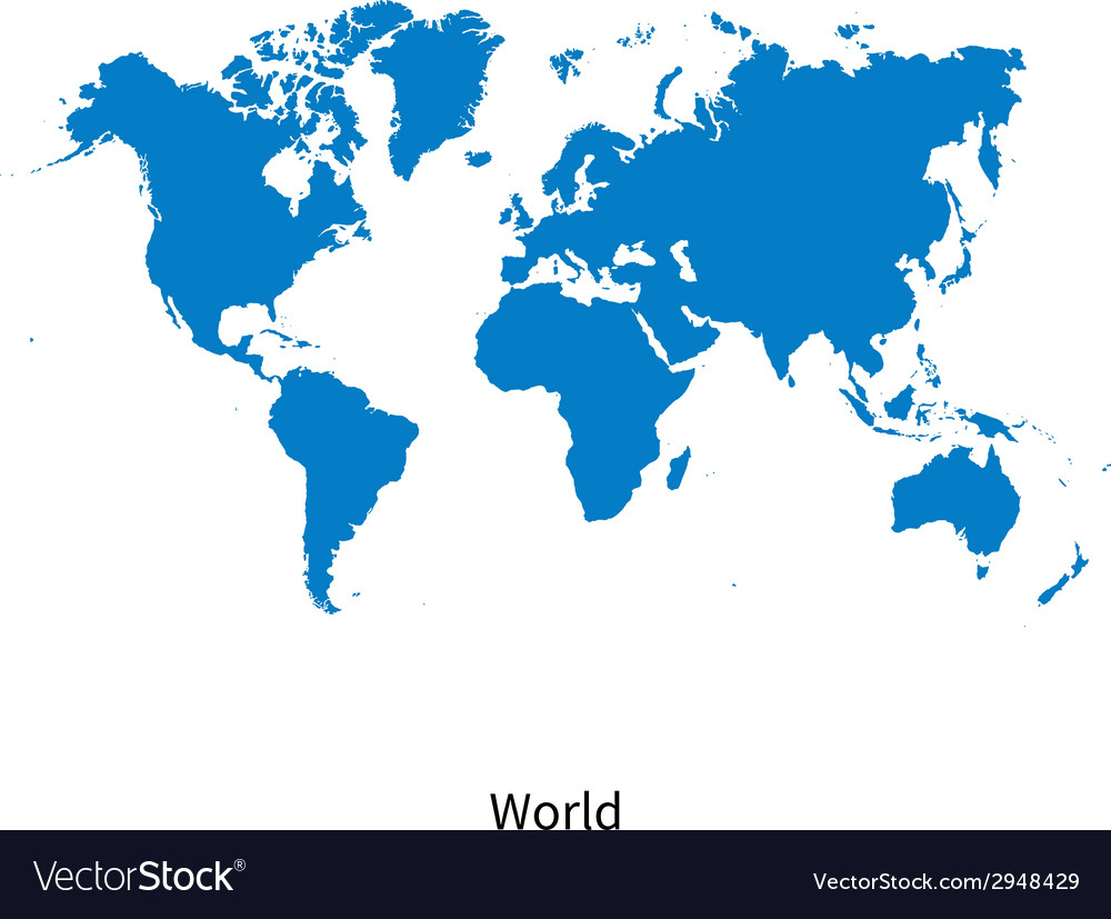 Detailed map of World vector image