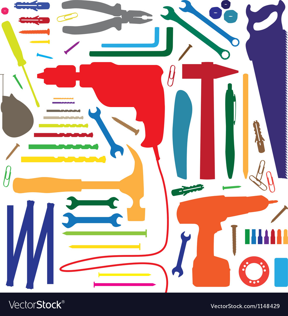 Home tools vector image