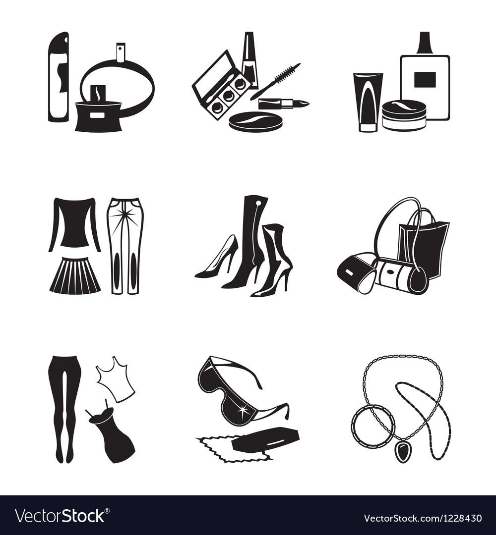 Women fashion garments vector image