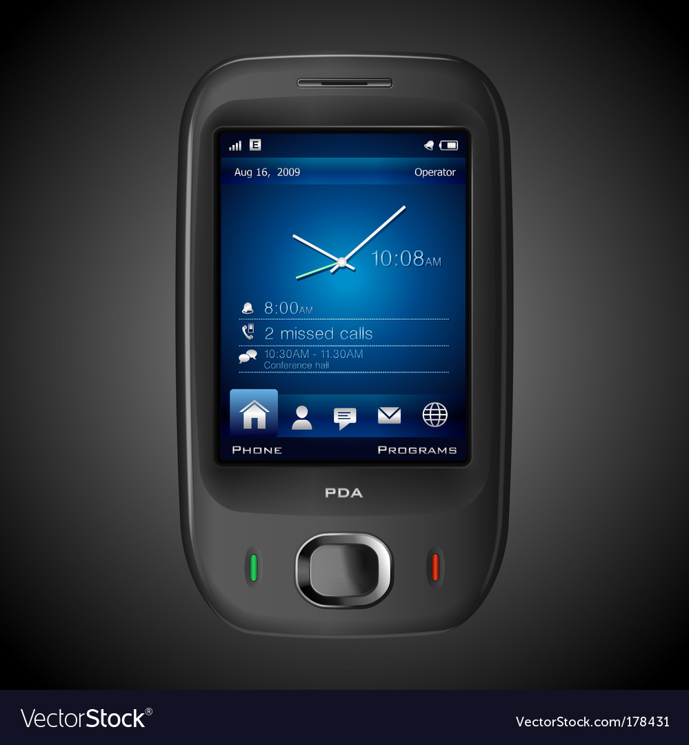High detailed photorealistic PDA vector image