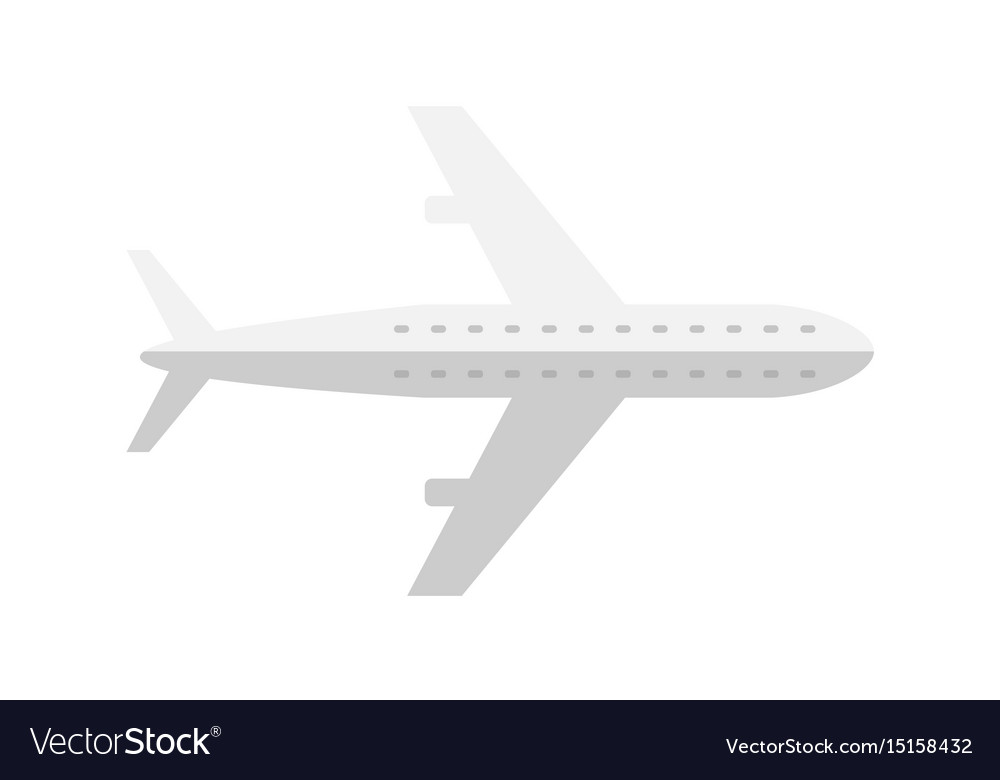 Passenger airplane isolated icon vector image