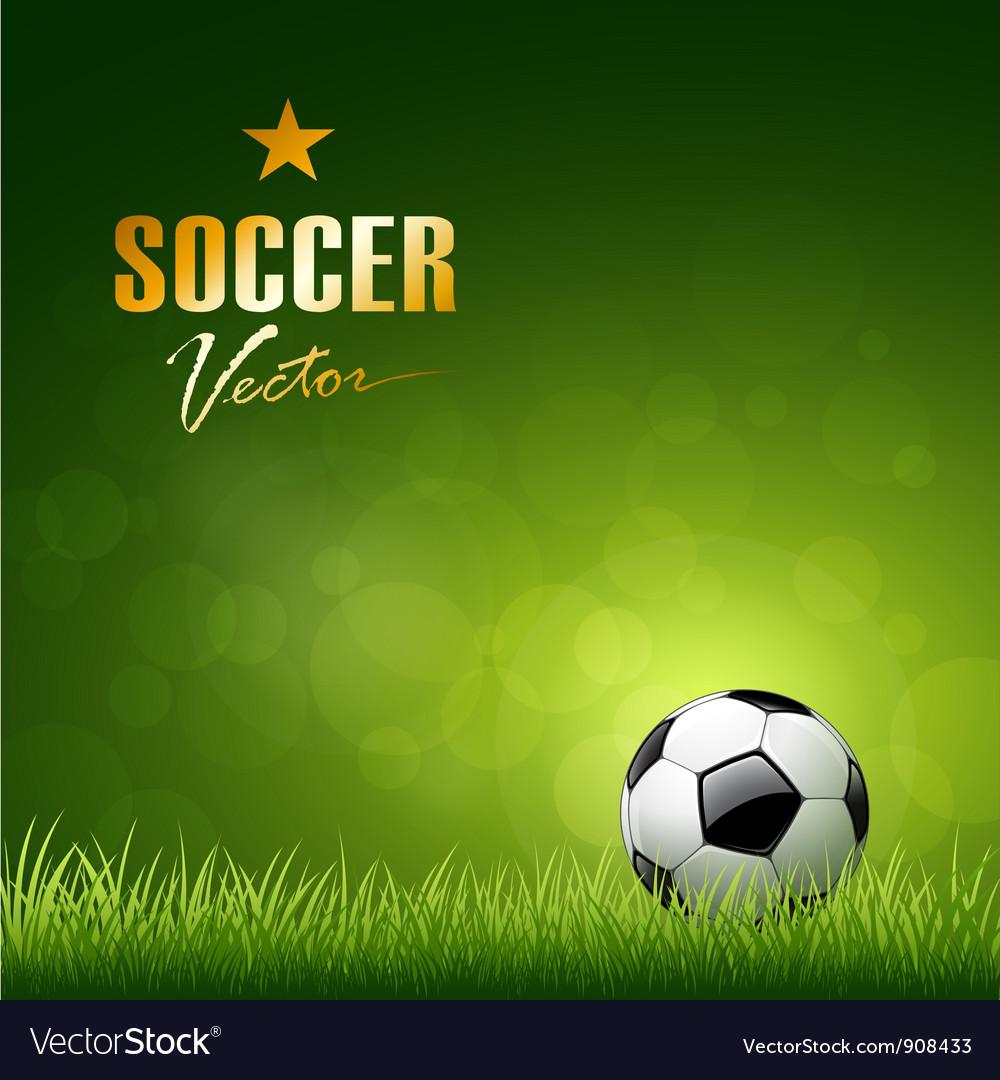 Soccer ball design Vector Image