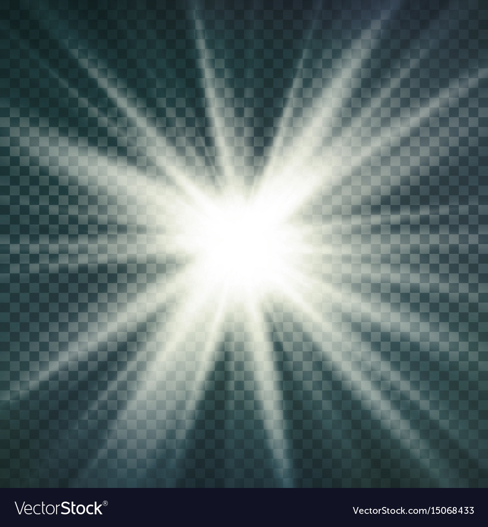 Abstract image of lighting flare glow light vector image