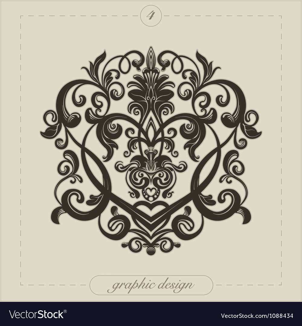 Graphic Element Flourish Vector Image
