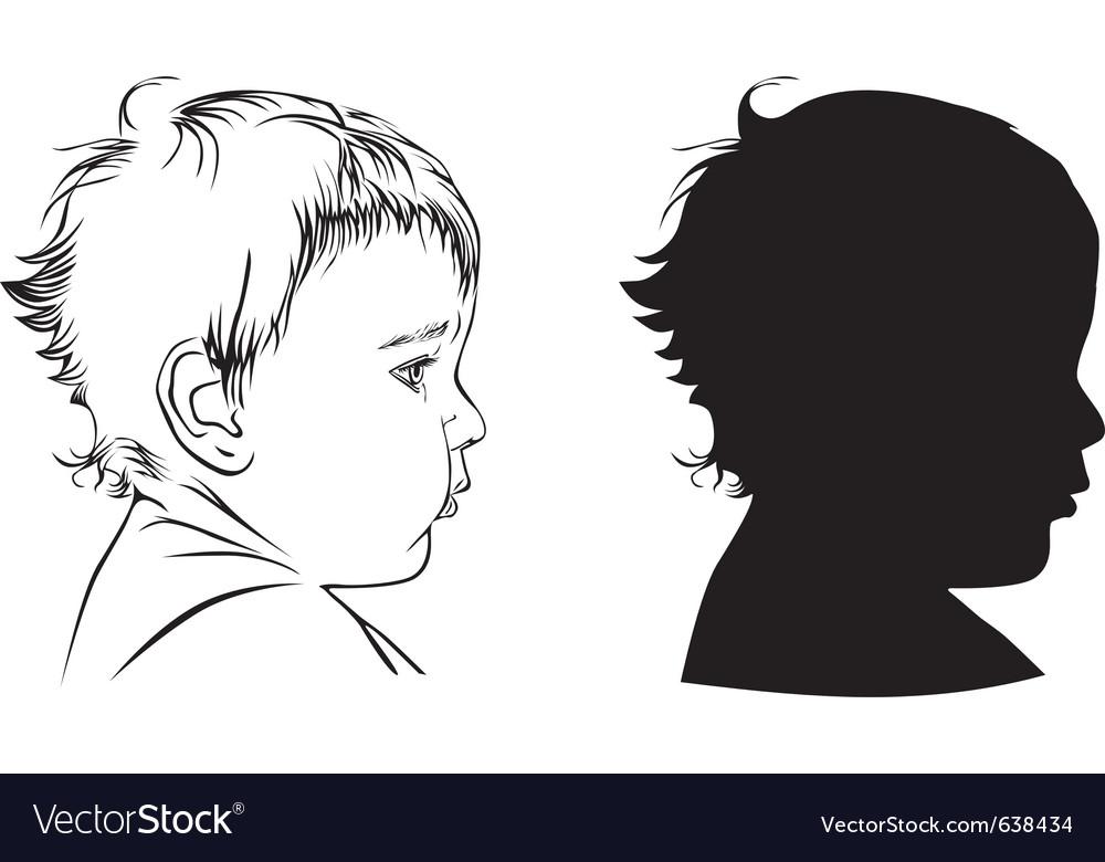 Profile baby vector image
