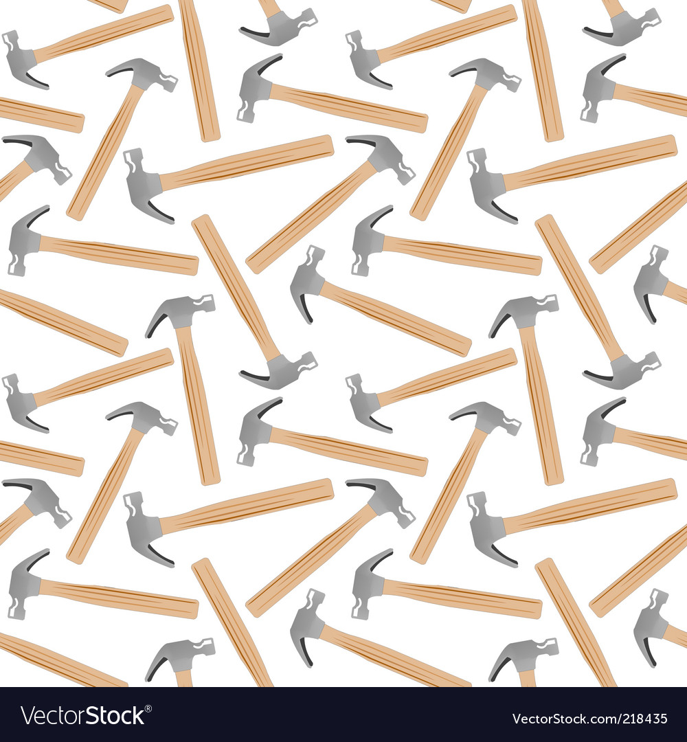 Hammer seamless pattern vector image