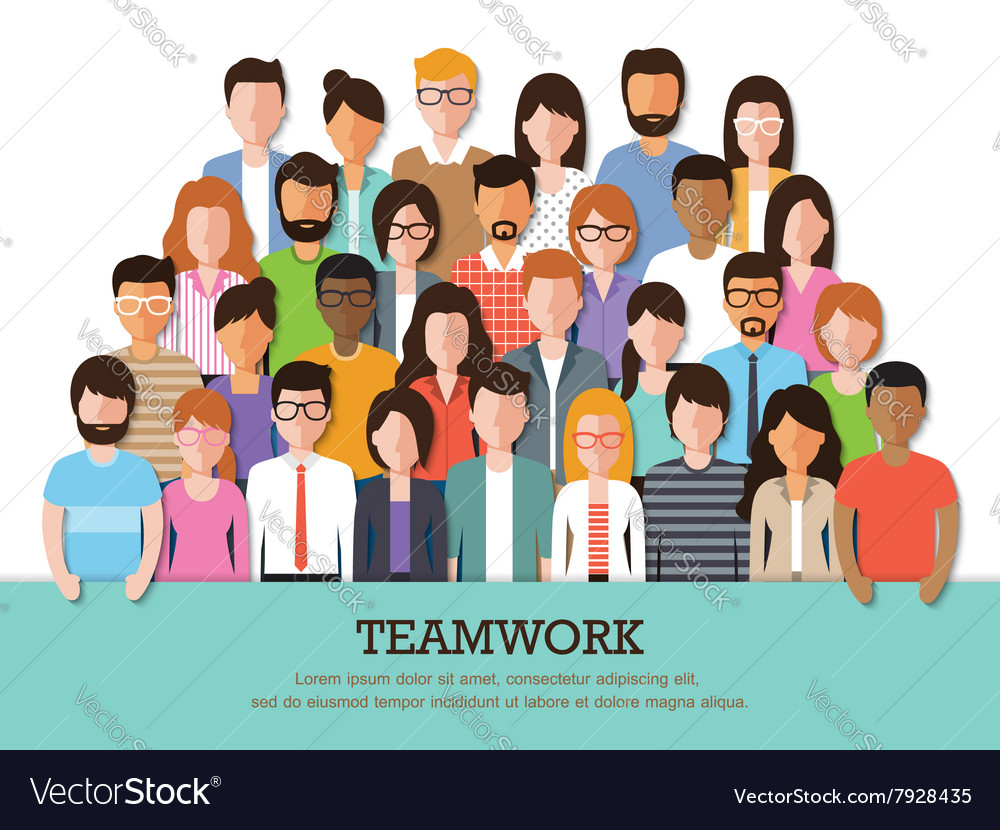 Group of people at work vector image