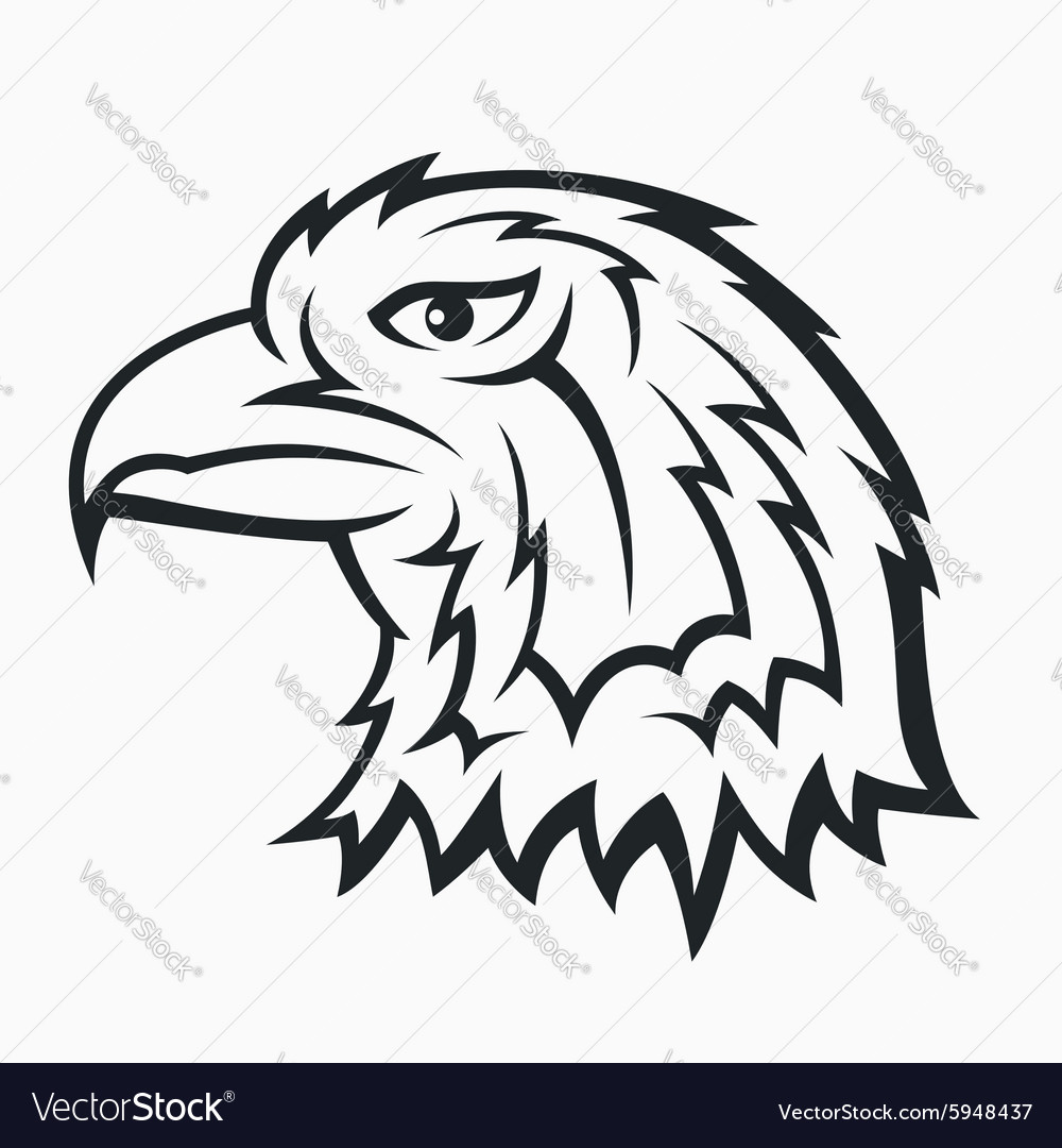 Eagle head symbol vector image