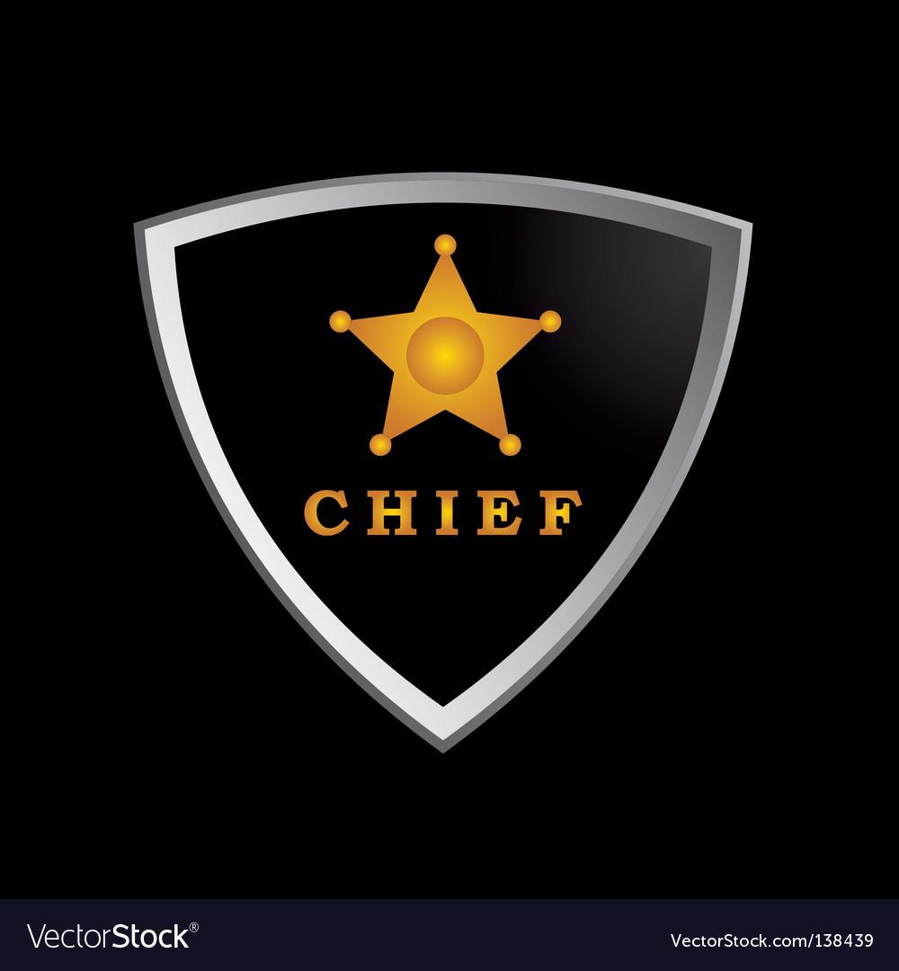 Chief badge vector image