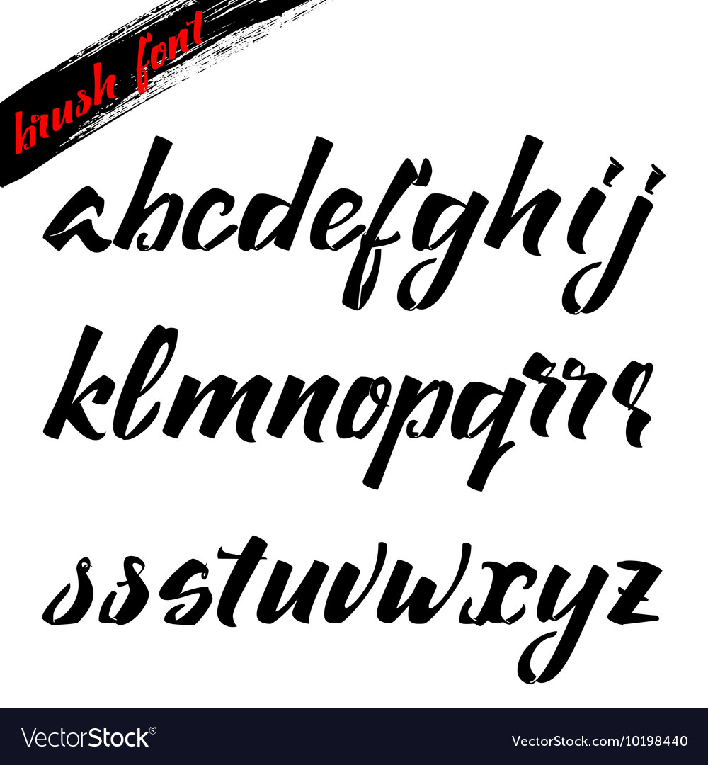 The script - handwriting brush It can be used to vector image