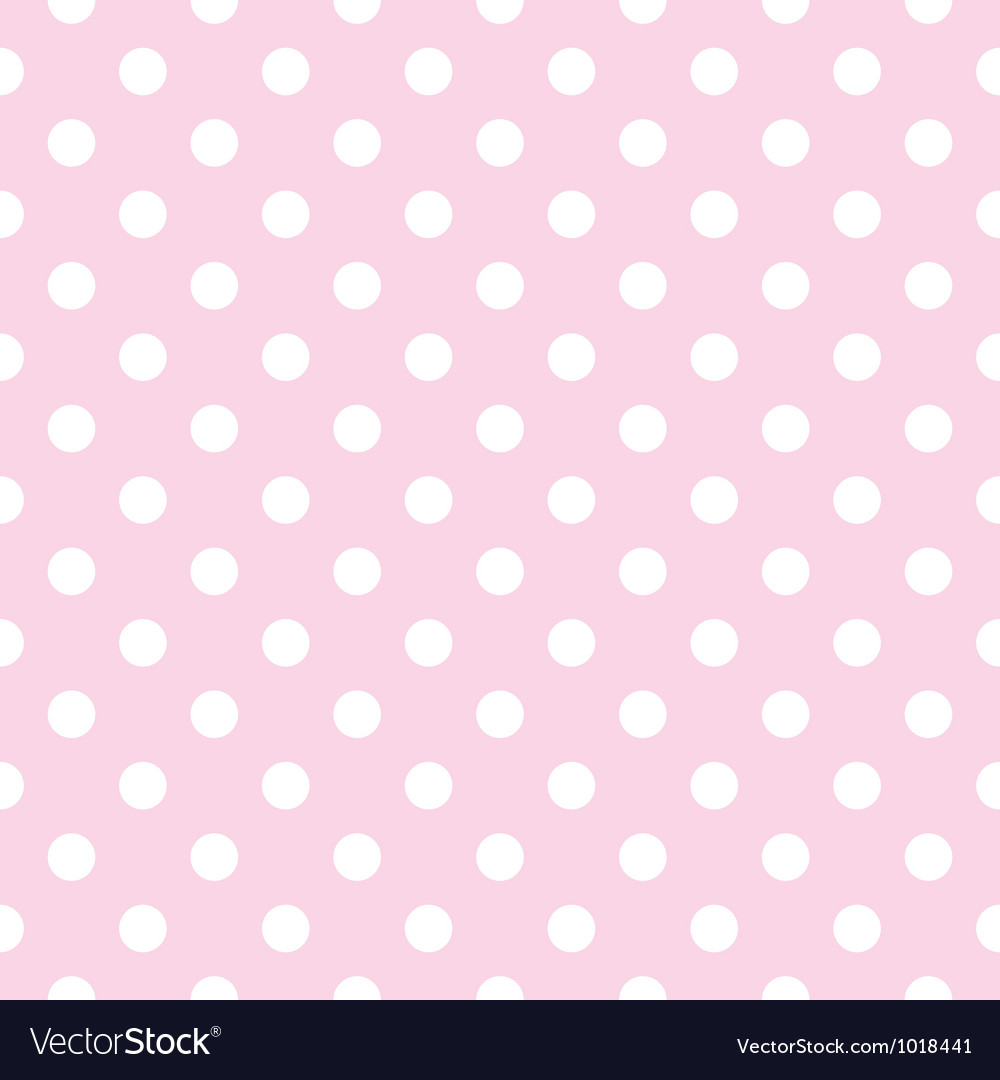 Seamless pattern polka dots on pink background Vector Image
