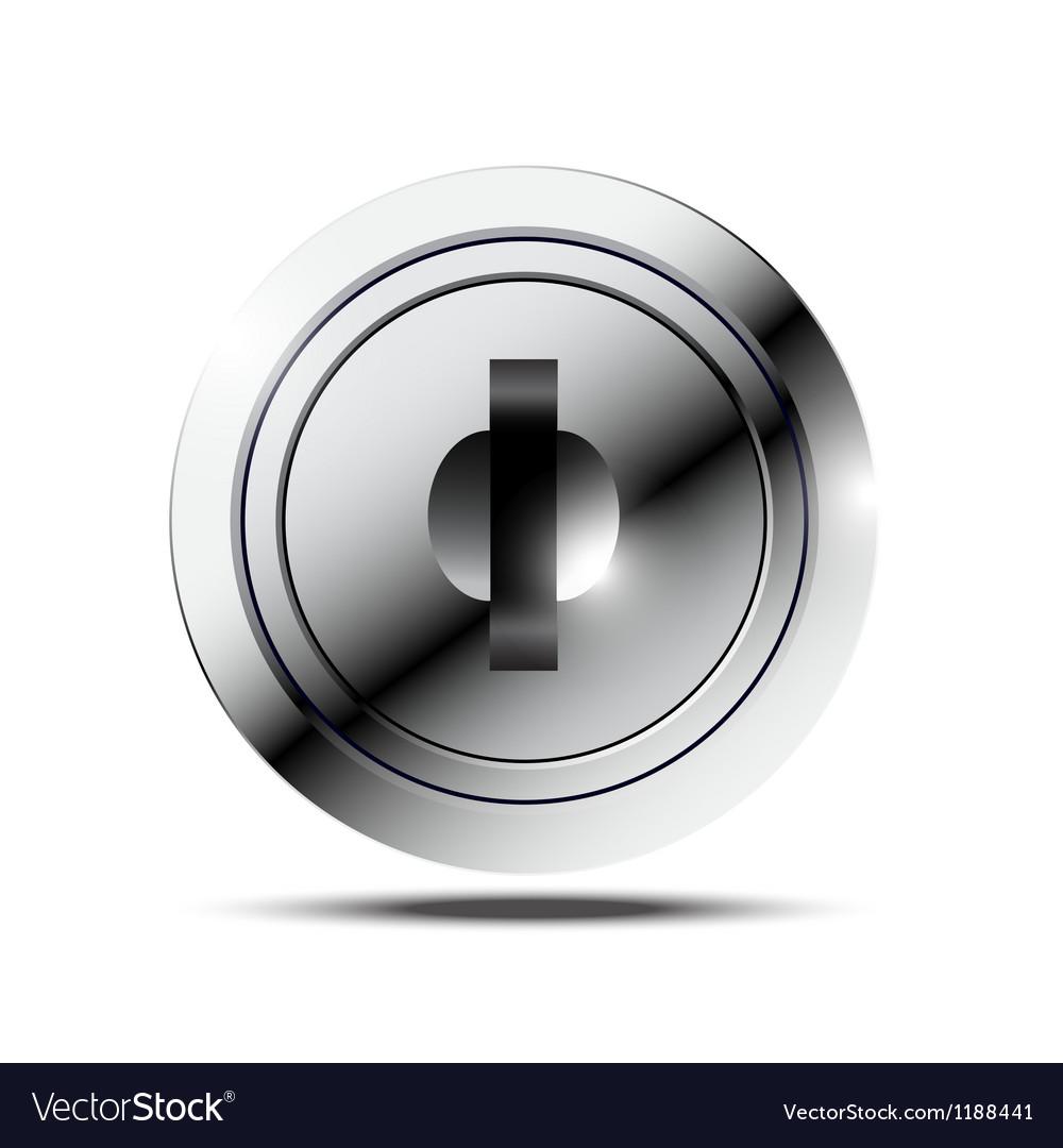 Metallic keyhole vector image