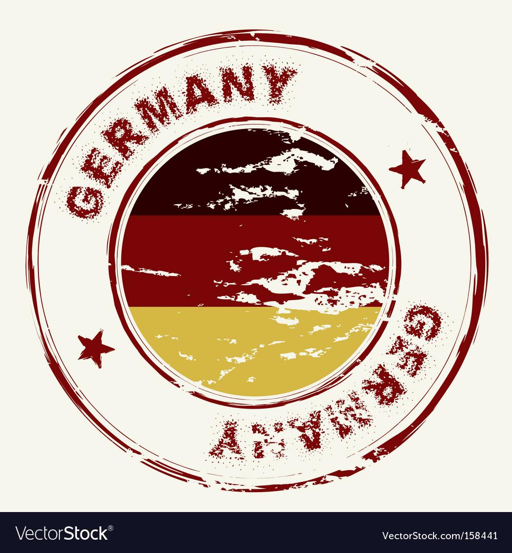 Germany ink stamp vector image