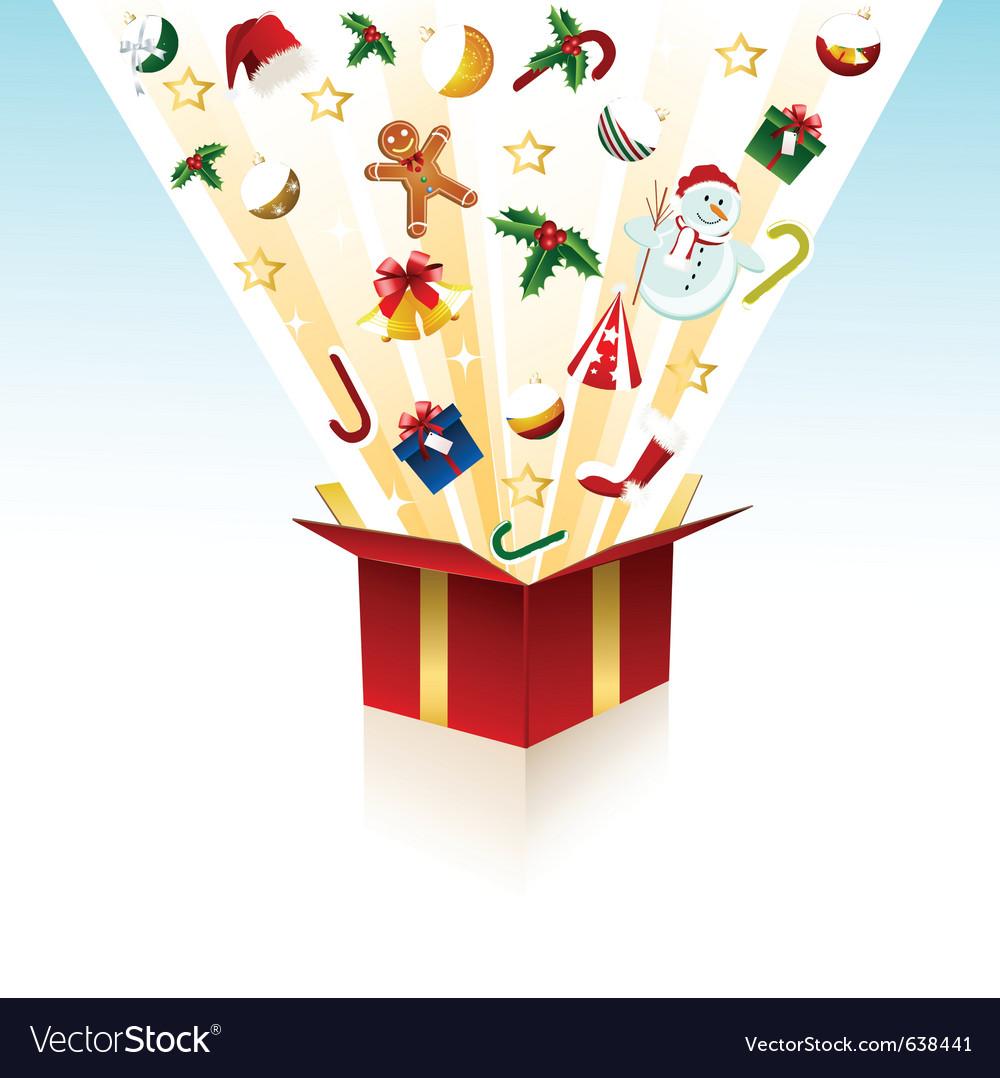 Merry christmas gift box royalty free vector image merry christmas gift box vector image negle Choice Image