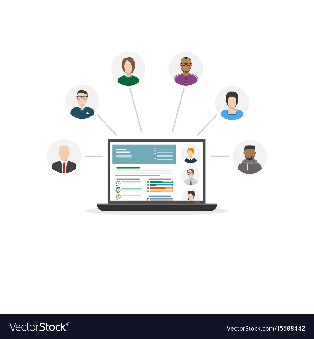 Human resources department vector image
