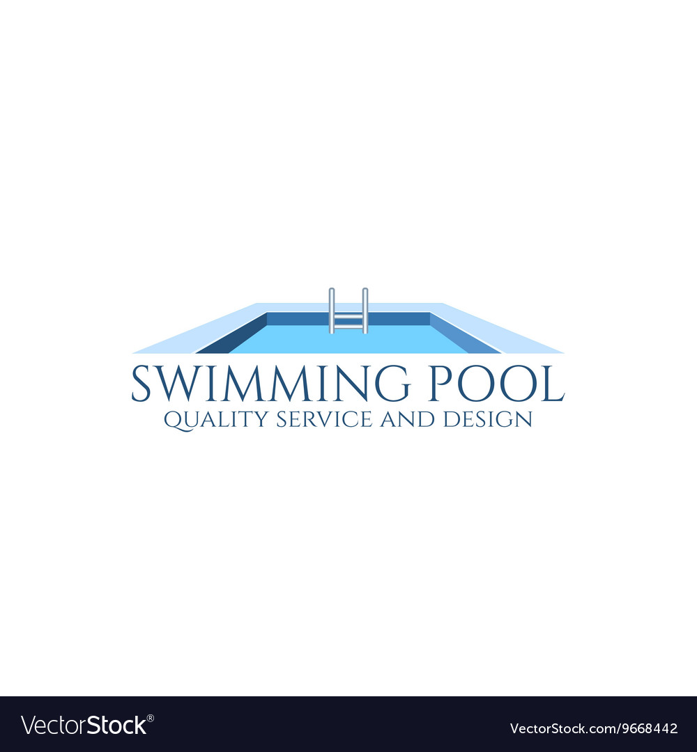 Swmming Pool Logo : Swimming pool logo royalty free vector image vectorstock