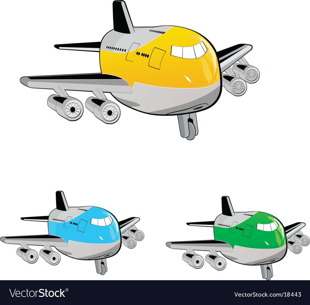 Cartoon aircraft vector image