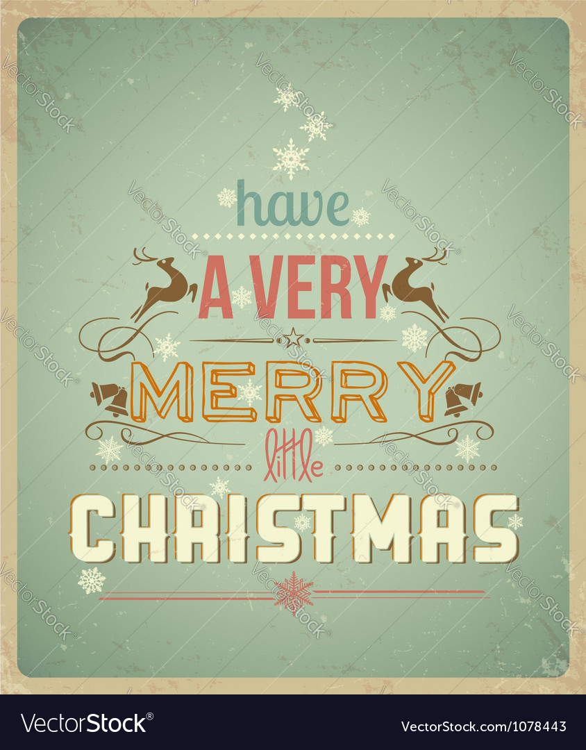 Have a Very Merry Christmas vector image