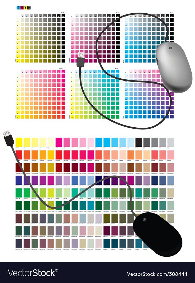 Color chart vector image
