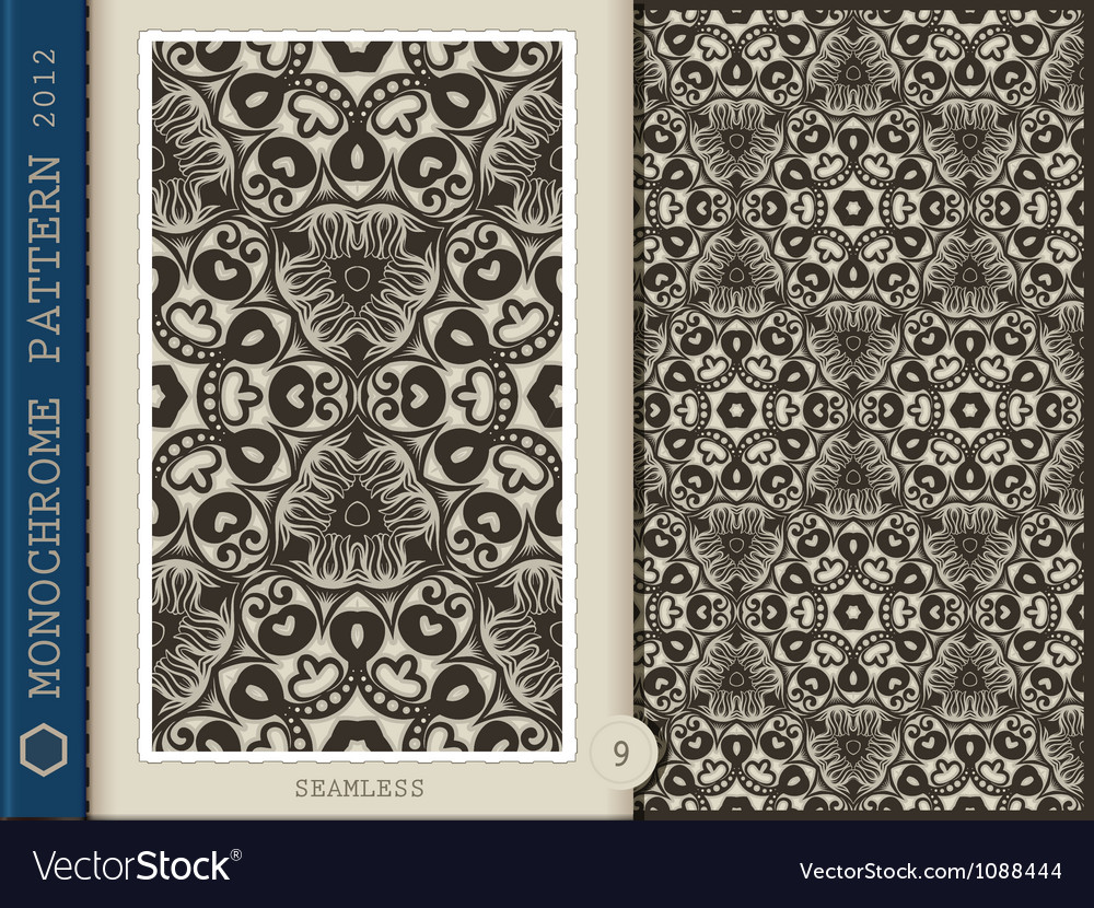 Seamless Pattern Monochrome vector image