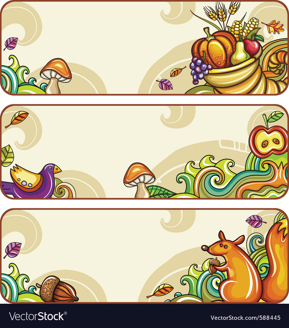 Fall banners 2011 2 vector image