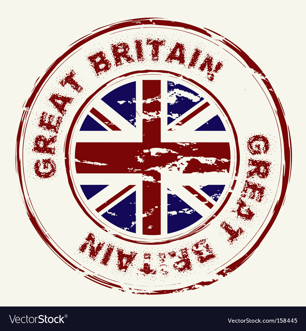 Great Britain grunge ink stamp vector image