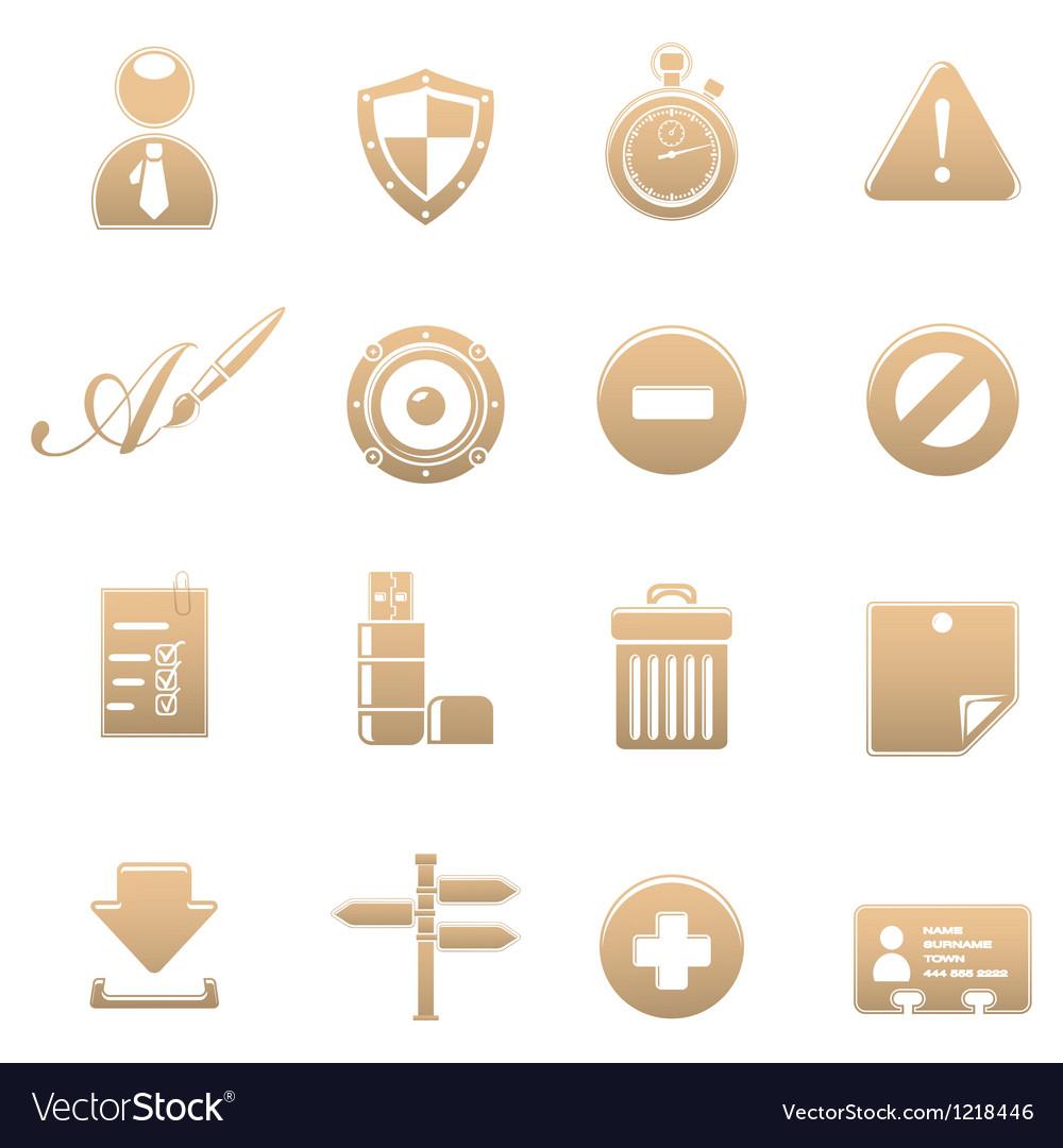 Icon set universal vector image