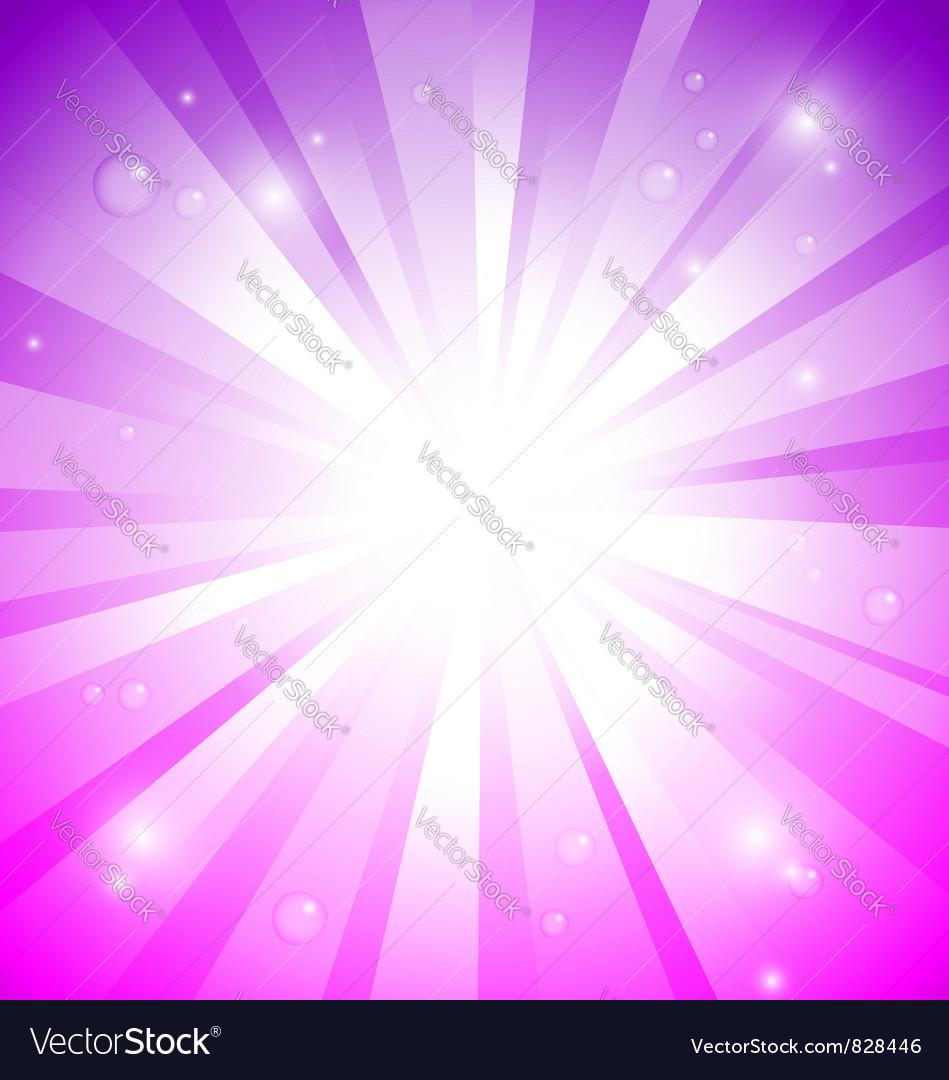 Fantasy sunburst purple pink vector image