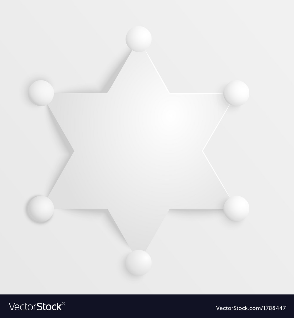 Stylized sheriff star on a white background vector image