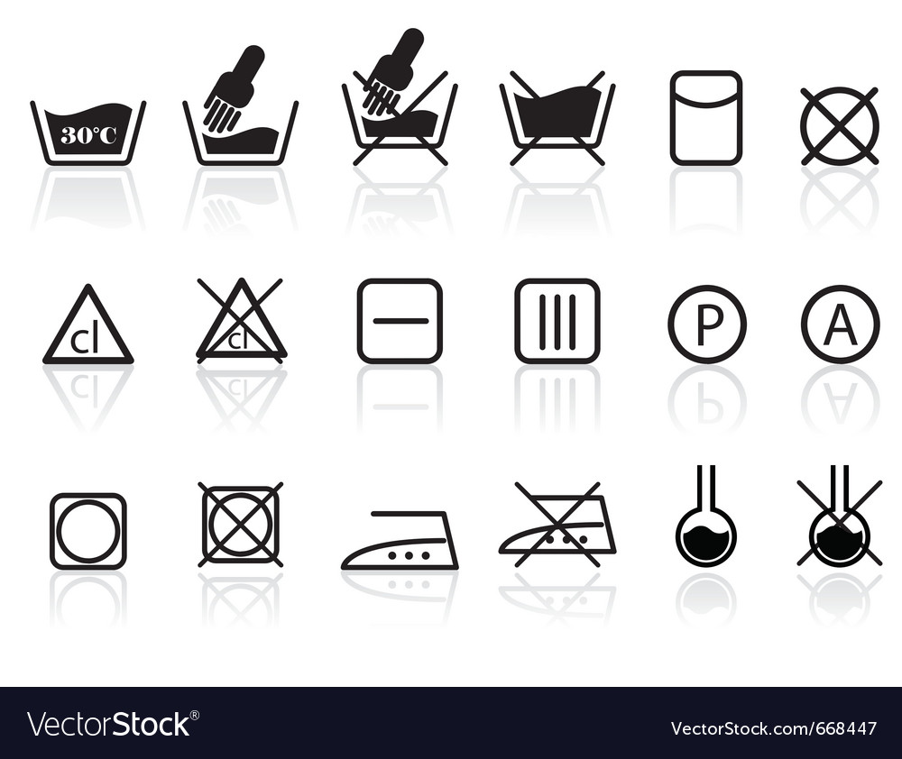 Laundry and textile care symbols royalty free vector image laundry and textile care symbols vector image biocorpaavc Image collections