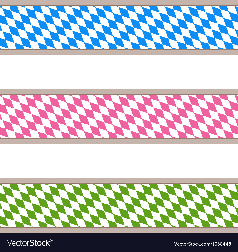 Bavarian ribbons vector image