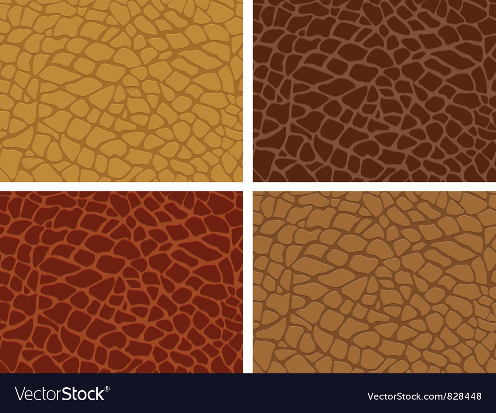 Crocodile skin seamless vector image