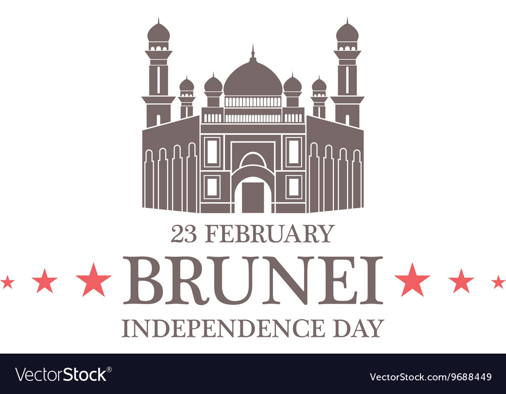 Independence Day Brunei vector image