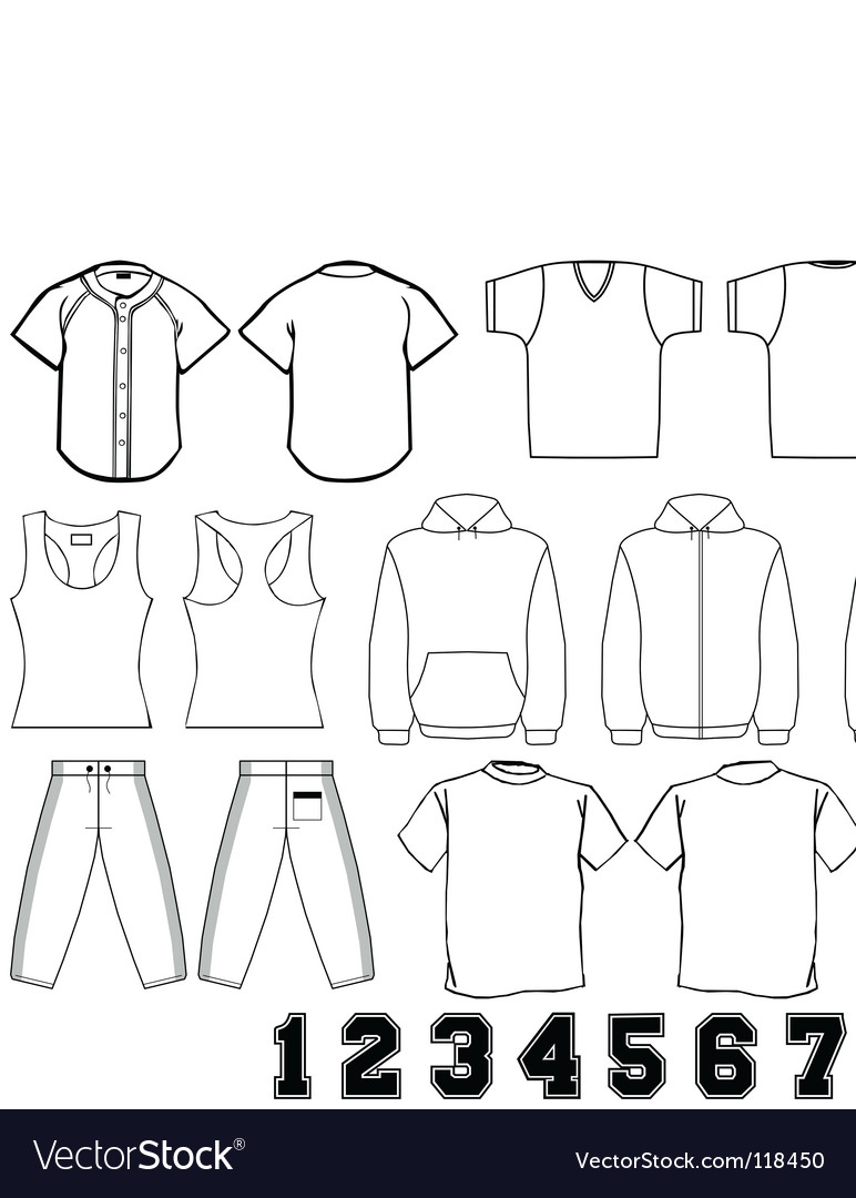 Sports wear template vector image