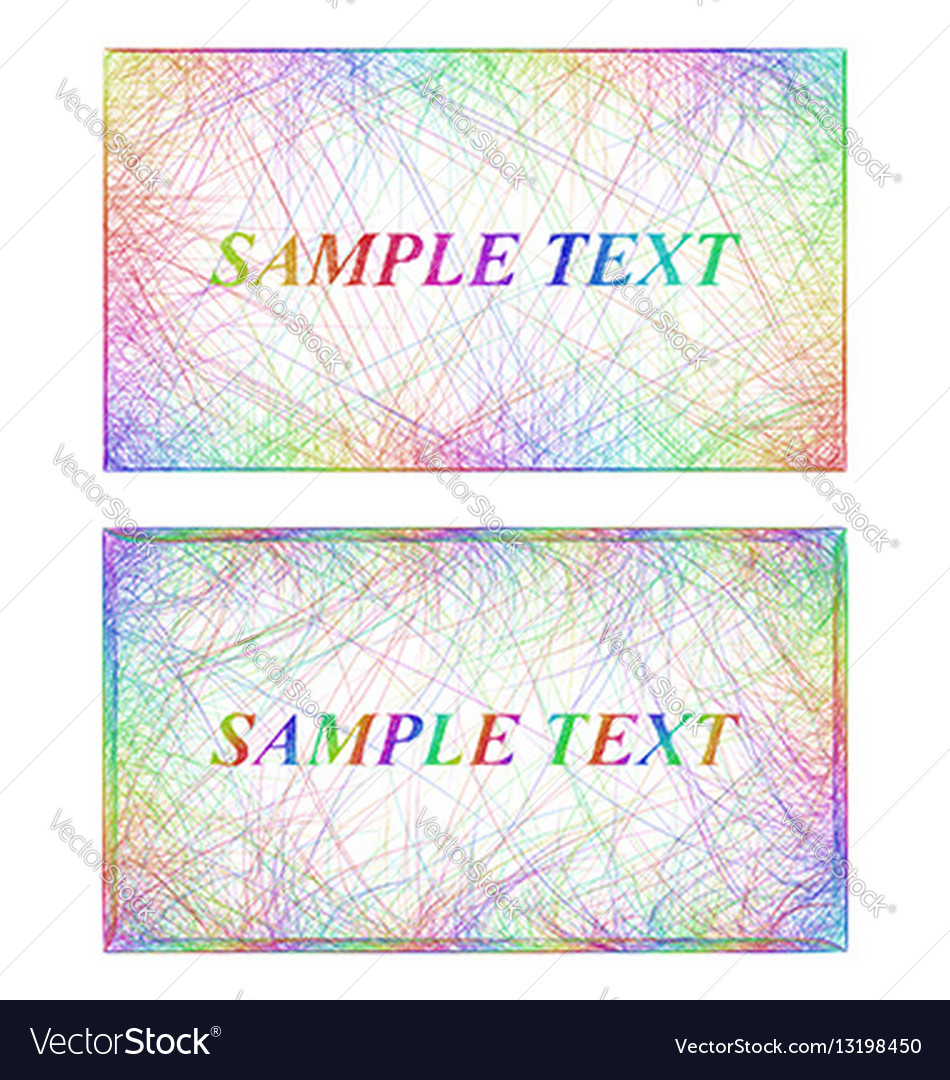 Business card border templates in rainbow colors vector image fbccfo Images