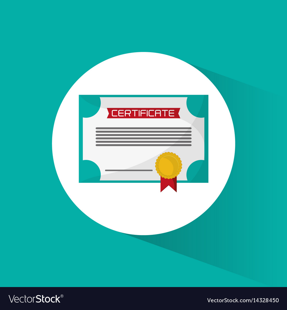 Certificate diploma education icon vector image
