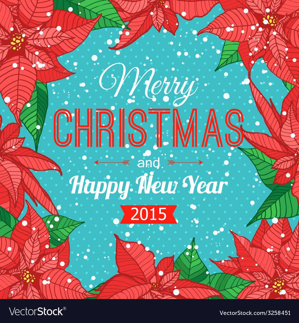 Happy New Year 2015 celebration typographical vector image