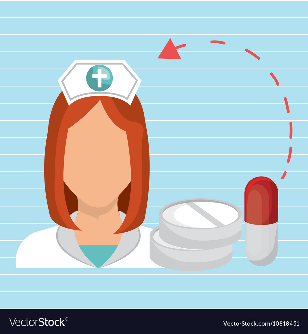 Nurse health care service vector image