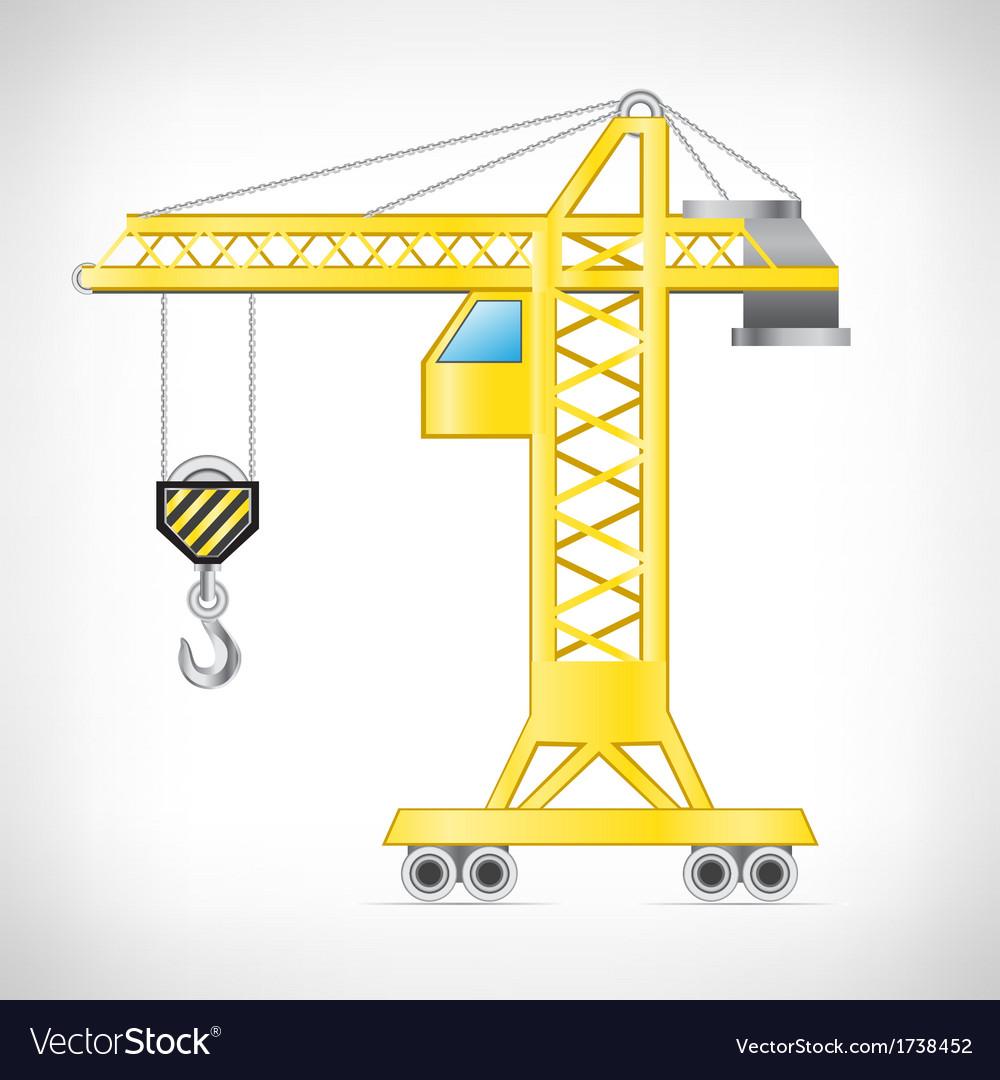 The crane Vector Image