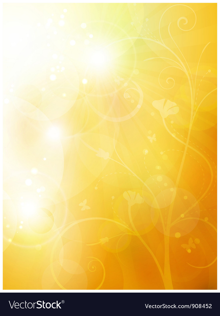 Soft golden sunny summer vector image