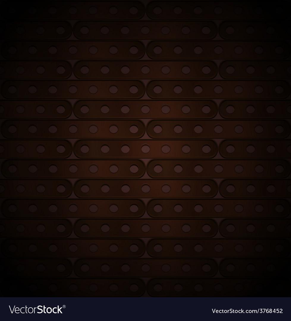 Metallic background of long plates vector image